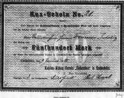 Aktie des Kohle-Abbau-Vereins